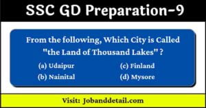 Important Questions For SSC GD 9